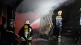 Cháy bãi giữ xe ô tô ở Đà Nẵng trong đêm