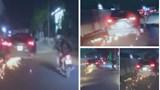 Tạm giữ tài xế ô tô kéo lê xe đạp điện của nạn nhân dưới gầm