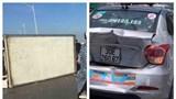 Hà Nội: Tai nạn liên hoàn trên cầu Chương Dương, xe tải lật nghiêng trên cầu Vĩnh Tuy