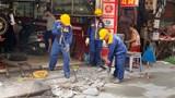 Xử lý các nguyên nhân gây ngập úng trên phố Yên Hòa