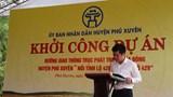 Khởi công dự án đường trục phát triển phía Đông huyện Phú Xuyên