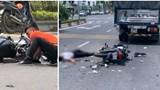 Tông vào đuôi xe tải dừng đèn đỏ, nam thanh niên đi xe máy tử vong tại chỗ