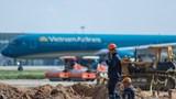 Rút ngắn 8 tháng tiến độ thi công đường băng sân bay Nội Bài