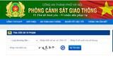Tự tra cứu xe bị phạt nguội trên Cổng thông tin điện tử Công an TP Hà Nội