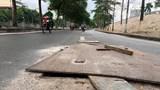 """Hà Nội: Hố ga mất nắp """"bẫy"""" người tham gia giao thông trên đường Bưởi"""