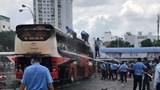TP Hồ Chí Minh: Cháy xe khách giường nằm trong Bến xe miền Đông