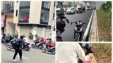 Thông tin mới nhất vụ thanh niên đập phá xe máy của người đi đường ở Hà Nội