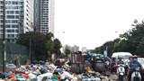 Hà Nội: Điểm tập kết rác cản trở giao thông tại đường Đỗ Đức Dục