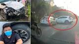Khởi tố, tạm giữ tài xế điều khiển xe điên tông hàng loạt phương tiện ở thị xã Sơn Tây