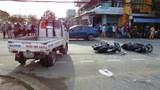 2 ô tô va chạm 2 xe máy, 1 người chết, 1 người bị thương