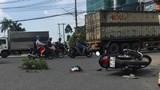 Xe tải tông xe máy tại ngã tư Vũng Tàu