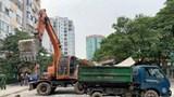 Giải tỏa điểm đỗ xe không phép tại Khu đô thị Trung Hòa - Nhân Chính