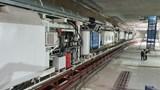 Cận cảnh lắp đặt máy đào hầm TBM đầu tiên tuyến metro đoạn Nhổn - Ga Hà Nội