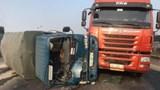Tai nạn liên hoàn 5 ô tô trên cầu Thanh Trì gây ùn tắc hơn 10km