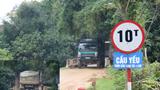 """Huyện Đức Thọ (tỉnh Hà Tĩnh): Dàn xe có dấu hiệu quá tải ngày ngày """"dắt"""" nhau qua cây cầu yếu"""