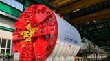 Máy đào hầm TBM ''Thần tốc'' tuyến Nhổn - ga Hà Nội đang lắp đặt đến bộ phận cuối cùng