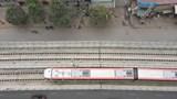 [Video] Đoàn tàu đầu tiên tuyến đường sắt đô thị Nhổn - Ga Hà Nội lăn bánh