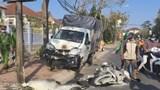 Tai nạn giao thông mới nhất hôm nay 22/2: Tài xế xe tải buồn ngủ tông xe máy cháy rụi giữa phố
