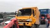 4 ô tô đâm liên hoàn trên cầu Thanh Trì