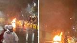 Hà Nội: Triệu tập chủ xe ô tô Volvo đâm xe máy bốc cháy trên đường Nguyễn Trãi