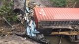 Quảng Ninh: Xe container đâm vào cống rồi lao xuống mương, tài xế chết trong cabin