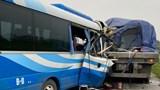 Hiện trường vụ tai nạn giao thông khiến 2 người chết tại Nghệ An