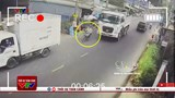 [Clip] Người đàn ông mất mạng vì cố tình vượt xe ben