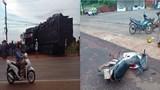 Bình Phước: Xe tải đụng 3 xe máy, 4 người chết và bị thương
