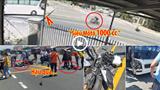 [Clip] Phóng mô tô 1000 phân khối, nam thanh niên chở bạn gái lao thẳng vào xe khách