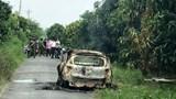 An Giang: Cháy xe taxi, chết người chưa rõ nguyên nhân tại Chợ Mới