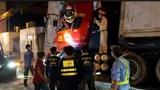 Giải cứu tài xế kẹt cứng trong cabin sau cú tông vào trạm thu phí trên cao tốc TP Hồ chí Minh - Trung Lương