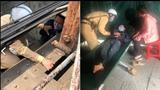 CSGT Hà Nội cứu sống người đàn ông định nhảy cầu Long Biên tự tử