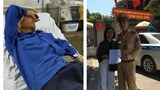 Hà Nội: CSGT trẻ cứu sống người đàn ông ngất do cảm nắng giữa đường