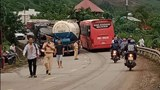 Quảng Nam: Tai nạn giữa xe bồn và xe tải, quốc lộ 14B ùn tắc