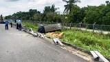 Tai nạn giao thông mới nhất hôm nay (25/7): Xe tải tông sập taluy lao ra khỏi đường cao tốc