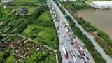 Đề nghị bố trí CSGT dẫn đoàn xe vận tải theo luồng xanh, giải tỏa ùn tắc cho Hà Nội