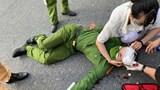 Nam sinh viên thông chốt kiểm dịch, tông bị thương Đại uý công an