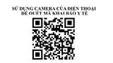 Hướng dẫn sử dụng hệ thống camera quét mã QR để qua chốt kiểm soát dịch bệnh