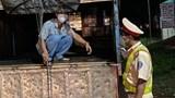 Xử phạt lái xe tải chở người trên thùng để qua chốt kiểm dịch