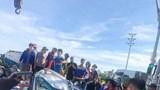 Va chạm trên cao tốc Hà Nội – Hải Phòng, 2 xe bị hư hỏng nặng