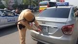 Đề xuất tăng mức xử phạt hành vi che biển số ô tô