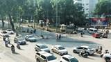 Ngã tư Kim Mã - Núi Trúc được rào cứng phục vụ thi công ga ngầm S9  