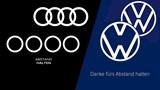 Audi, Volkswagen biến tấu logo nhằm chung tay chống dịch Covid-19
