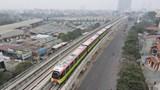 Đưa tàu vào vận hành thử ở tuyến đường sắt trên cao đoạn Nhổn - Cầu Giấy