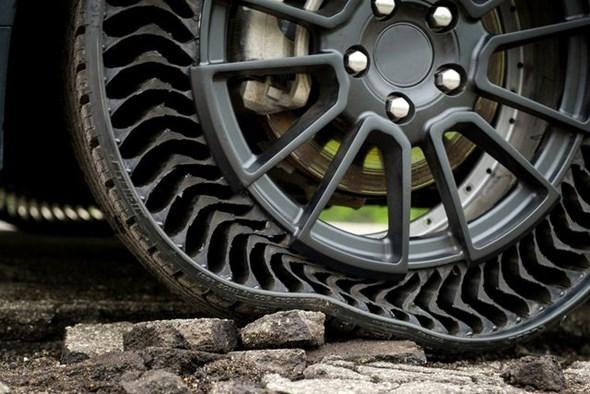 GM và Michelin thử nghiệm lốp không hơi - 1