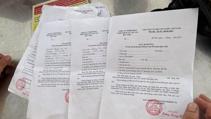 Hà Nội: Phát hiện công ty cấp khống giấy đi đường