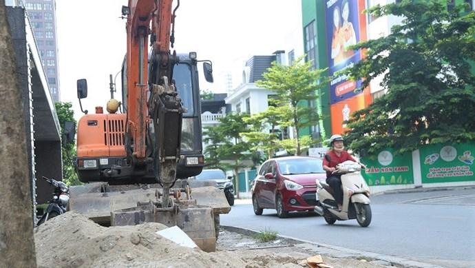 Dự án cải tạo đường phố Lê Văn Thiêm gây bức xúc cho người dân