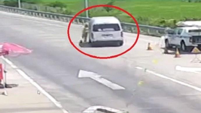 Khởi tố tài xế ô tô tông vào CSGT